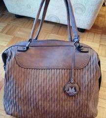 NOVA braon kozna torba