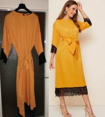 Shein haljina žuta PRODATA