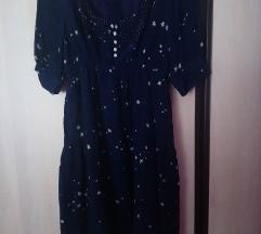 Tamno plava letnja haljina