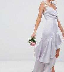 Asos svecana srebrnkasta haljina