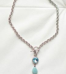 MYKA Chain & Large Rivoli Detachable Pendant