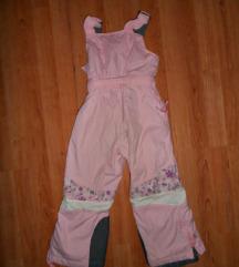 Ski pantalone poluskafander roze vel.4-5