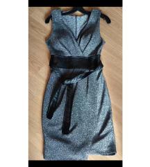 Svečana srebrna haljina XS