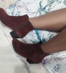 PROMOD kozne bordo duboke cipele gleznjace