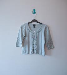 Pastelna bluza sa vezom
