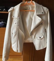 Bela kozna jakna