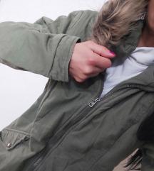 Parka jakna, maslinasta