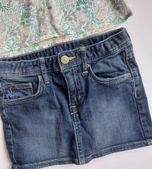 Klasicna teksas suknjica sa elastinom