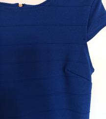 Sexy uska plava haljina NOVO