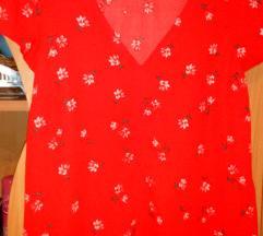 Crvena sa cveticima H&M