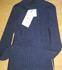 Zara kombinovan bluza sa etiketom