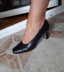 Italy Crne kozne cipele salonke