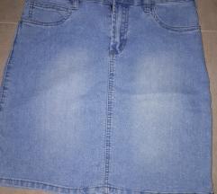 Elasticna teksas suknja