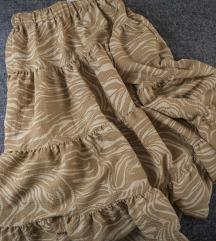 HM maxi suknja u dva braon tona, vel. S