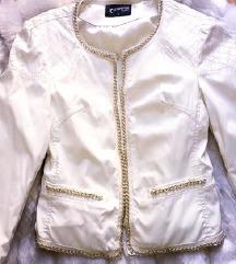 Bela eko-kozna jakna sa lancima