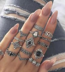 Set od 15 elegantnih prstenova NOVO
