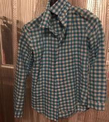 Belo-plava karirana košulja sa kragnom