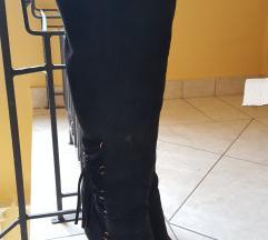 Čizme na štiklu preko kolena