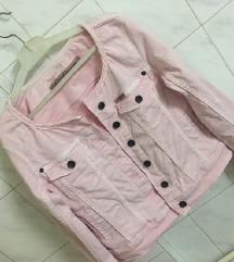 Nezno roze jakna S