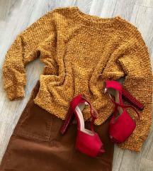 Džemper senf boje