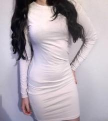 Krem haljina dugih rukava