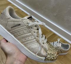 Adidas super star  zlatne nove 37