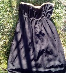Top crna haljina sa zlatnom pletenicom