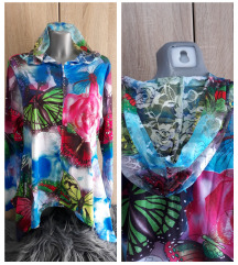 Nova bluza sa leptirima i cipkanom kapuljacom