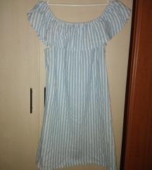 Bebi plava pamucna haljinica univerz