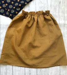 Oker suknjica - šivena