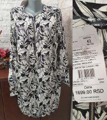 NOVA Crno bela tunika/kosulja sa etiketom, L/XL