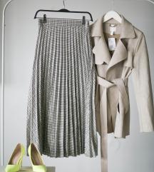 Rezz Karirana Koton plisirana suknja