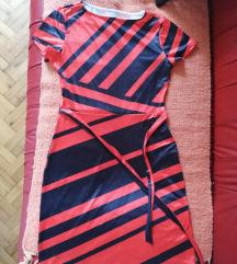 Crveno- crna haljina