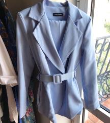 Missy Empire baby blue sako nov!