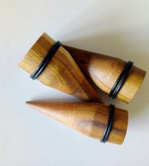 ORGANSKI drveni PROSIRIVACI za usi - rucni rad