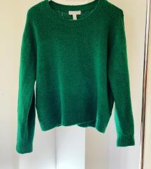 H&M zeleni dzemper