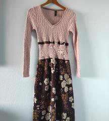 Midi haljina knit, flower, novi, snizenje