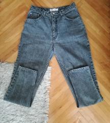 Mom jeans sive duboke farmerke vel.30