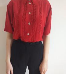 Vintage svilena košulja sa vezom DANAS 650 DINARA
