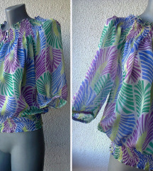 bluza svilena providna broj ZARA BASIC