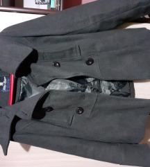 Kratki tamno sivi kaput
