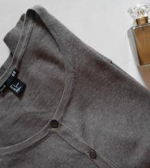 H&M soft brown kardigan pamucno tkanje