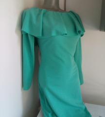Mint haljina sa karnerom S