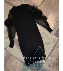 Nova crna haljina S,M
