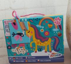 Glitter unicorn puzzle