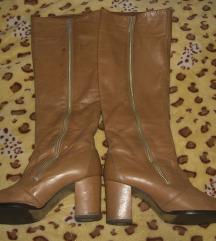 Vintage kožne čizme do kolena 37
