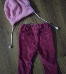 Somotne pantalonice za bebe do 9m.