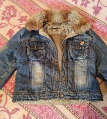 Teksas jakna sa krznom za devojcice 4