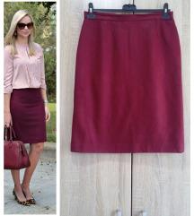Bordo pencil suknja