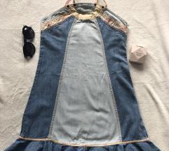 PEPE JEANS top haljina vezivanje oko vrata M